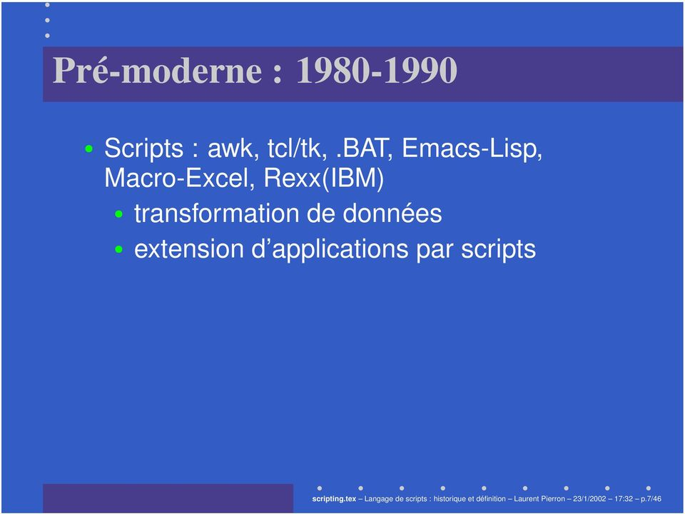 données extension d applications par scripts scripting.