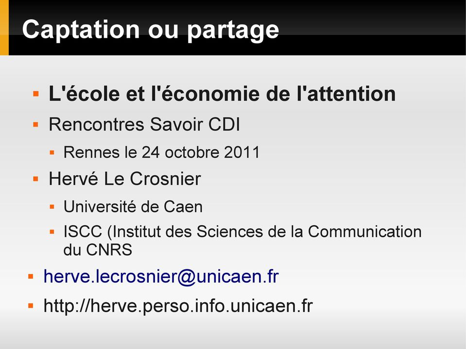 Université de Caen ISCC (Institut des Sciences de la