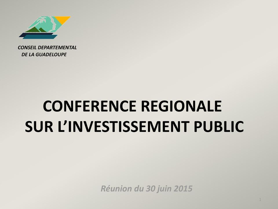 CONFERENCE REGIONALE