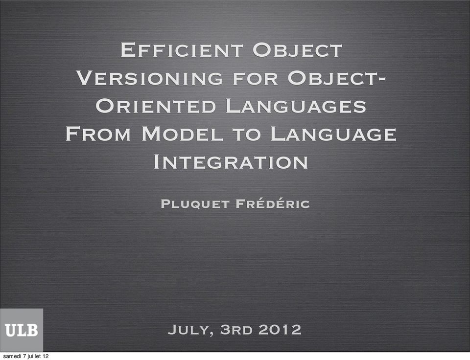 Model to Language Integration