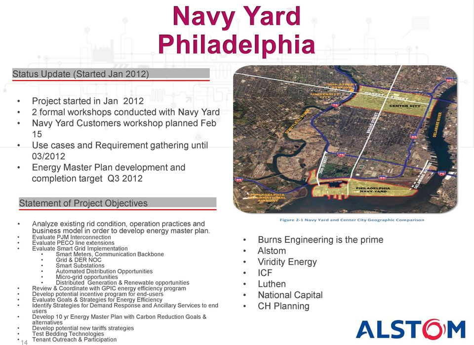 consulting project for Energy Master Plan development for Philadelphia Navy Yard Partners Analyze existing rid condition, operation practices and business model in order to develop energy master plan.