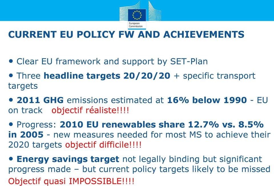 !!! Progress: 2010 EU renewables share 12.7% vs. 8.