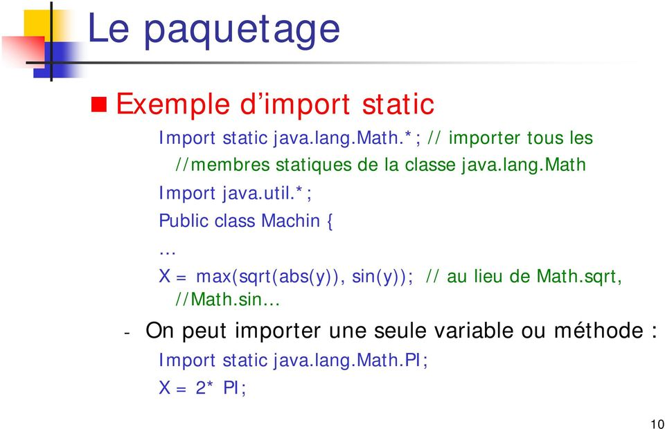 math Import java.util.