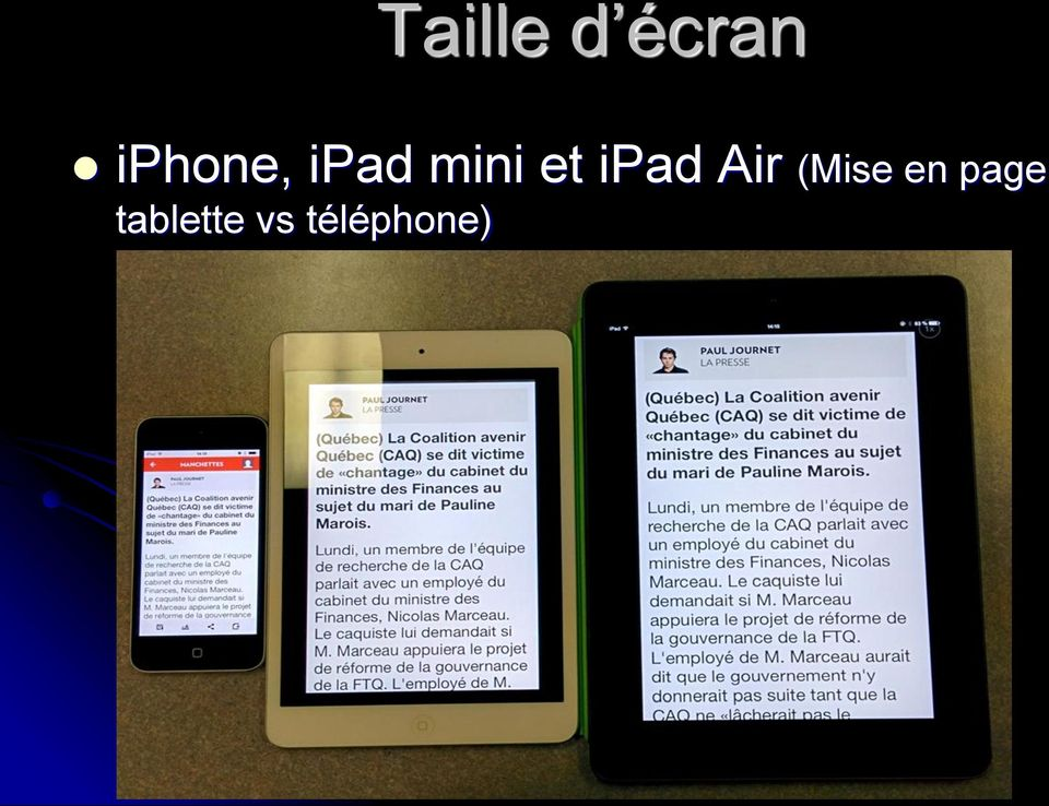 ipad Air (Mise en