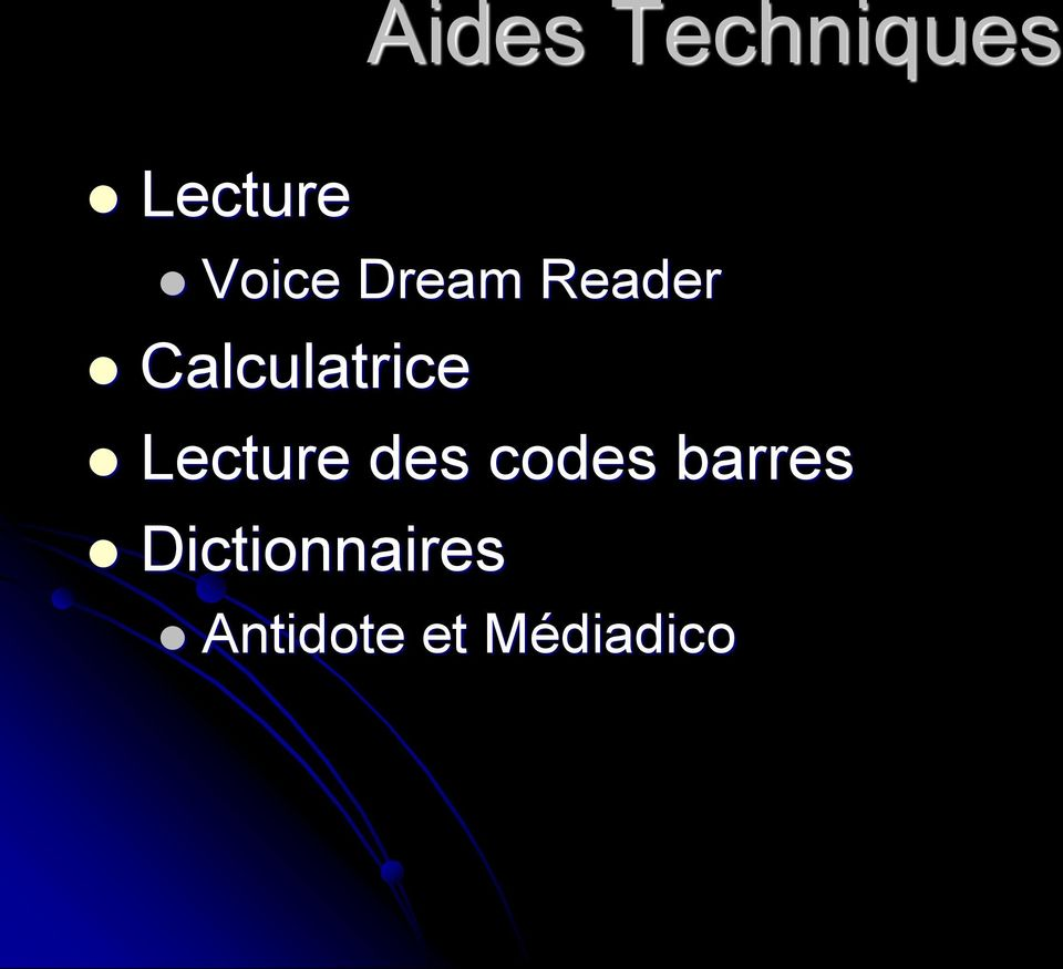 Calculatrice Lecture des