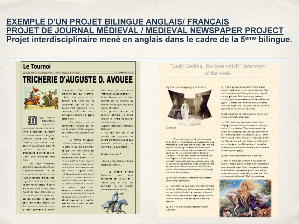 MEDIEVAL NEWSPAPER PROJECT Projet