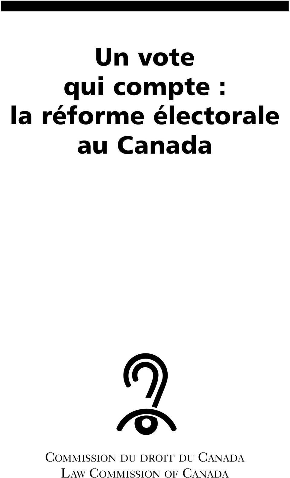 Canada COMMISSION DU DROIT