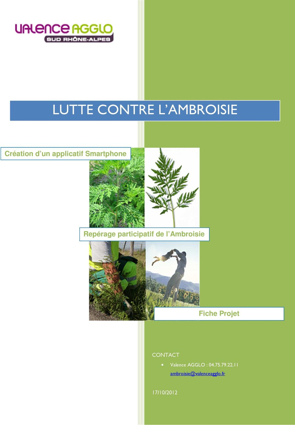 l Ambroisie Fiche Projet CONTACT Valence AGGLO