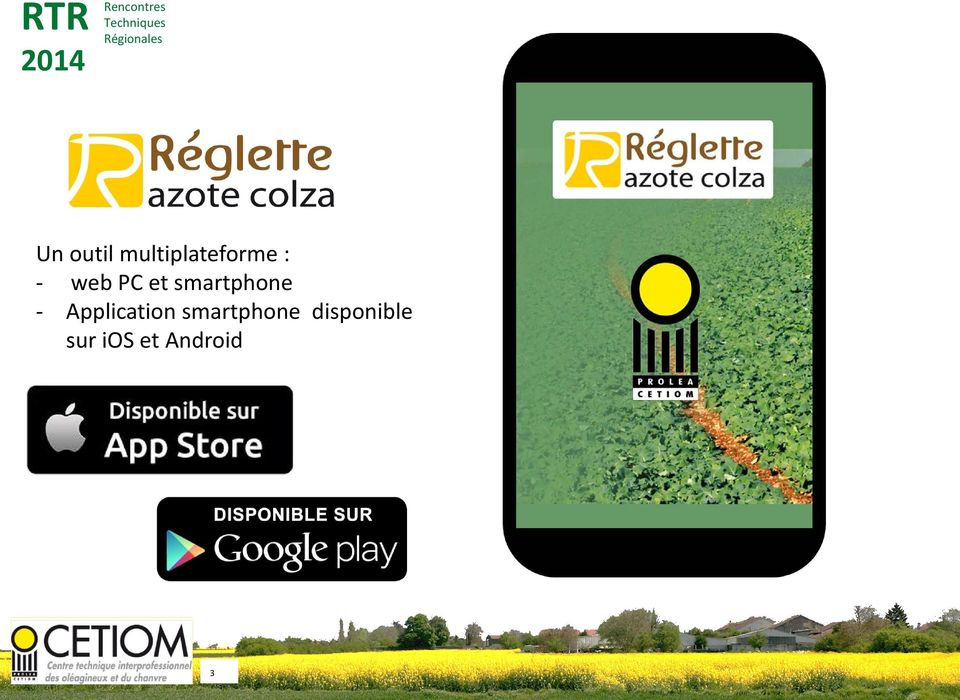 Application smartphone