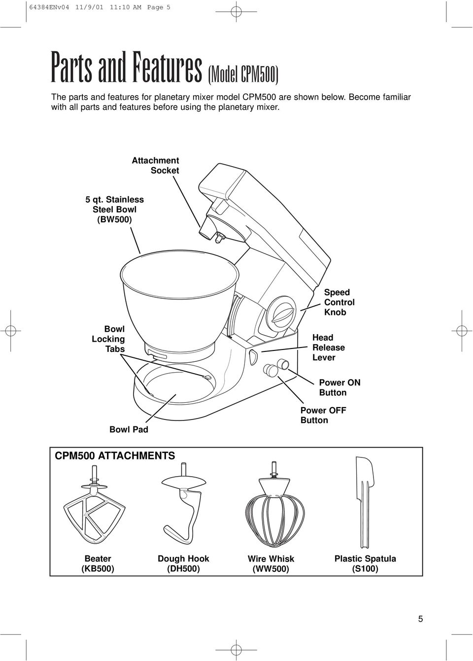 Attachment Socket 5 qt.