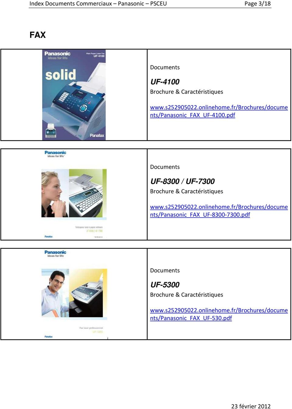 pdf Documents UF-8300 / UF-7300 Brochure & Caractéristiques www.s252905022.onlinehome.