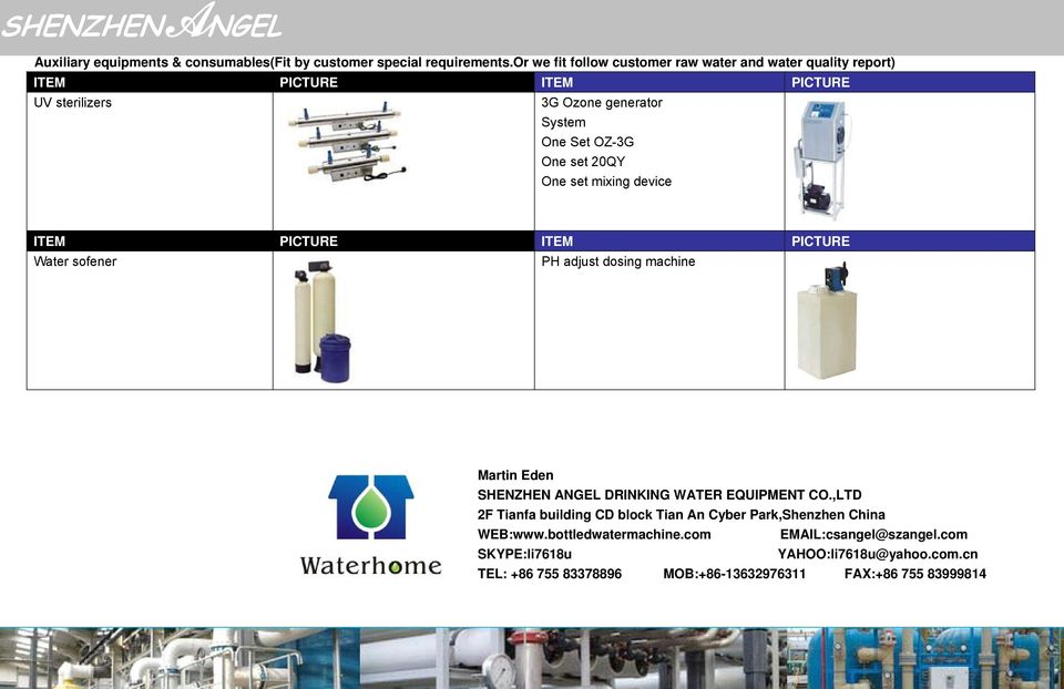 set 20QY One set mixing device ITEM PICTURE ITEM PICTURE Water sofener PH adjust dosing machine Martin Eden SHENZHEN ANGEL DRINKING WATER EQUIPMENT