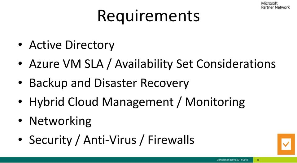 Recovery Hybrid Cloud Management / Monitoring