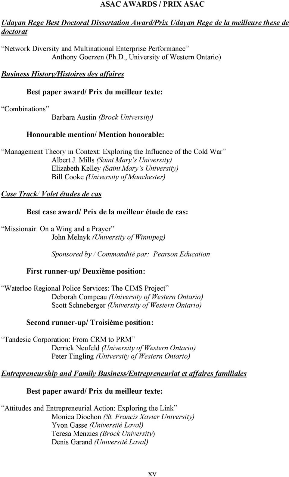honorable: Management Theory in Context: Exploring the Influence of the Cold War Albert J.