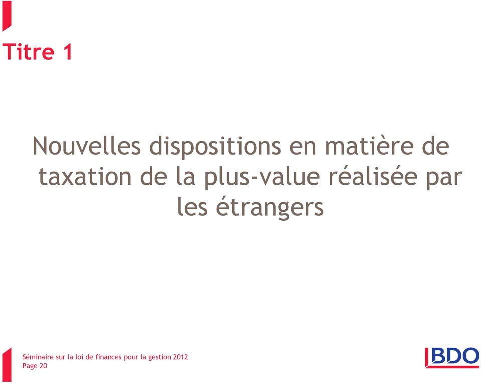 taxation de la plus-value