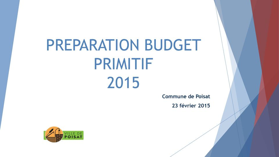 preparation budget primitif commune de poisat 23 f vrier pdf