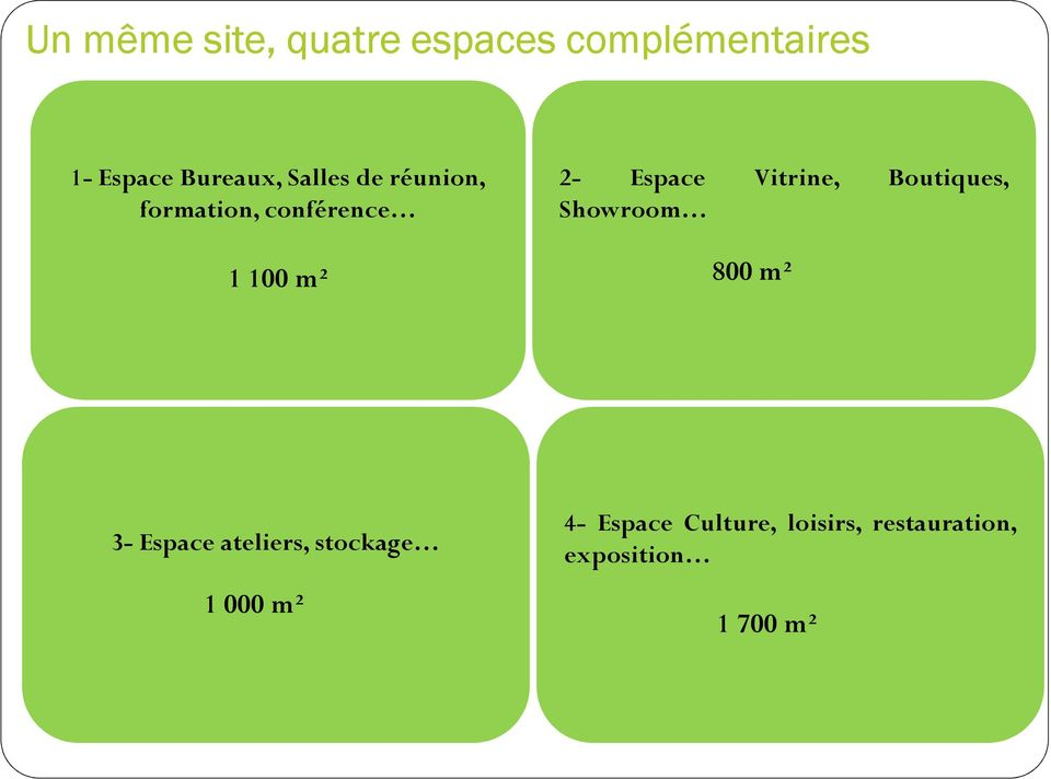Vitrine, Boutiques, Showroom 800 m² 3- Espace ateliers, stockage