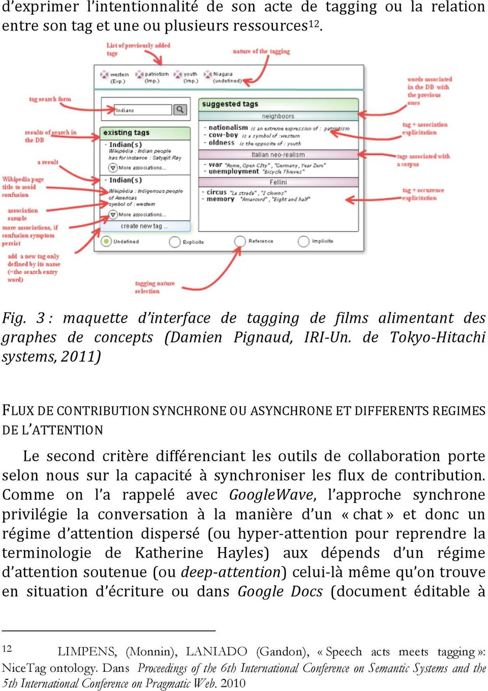 de Tokyo-Hitachi systems, 2011) FLUX DE CONTRIBUTION SYNCHRONE OU ASYNCHRONE ET DIFFERENTS REGIMES DE L ATTENTION Le second critère différenciant les outils de collaboration porte selon nous sur la