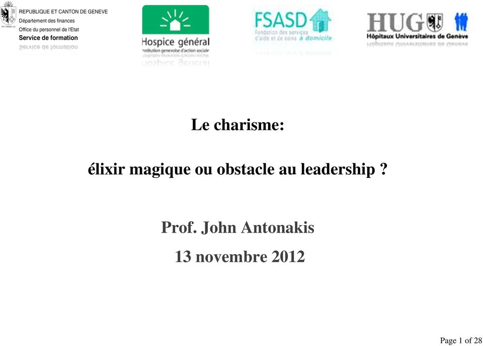 leadership? Prof.