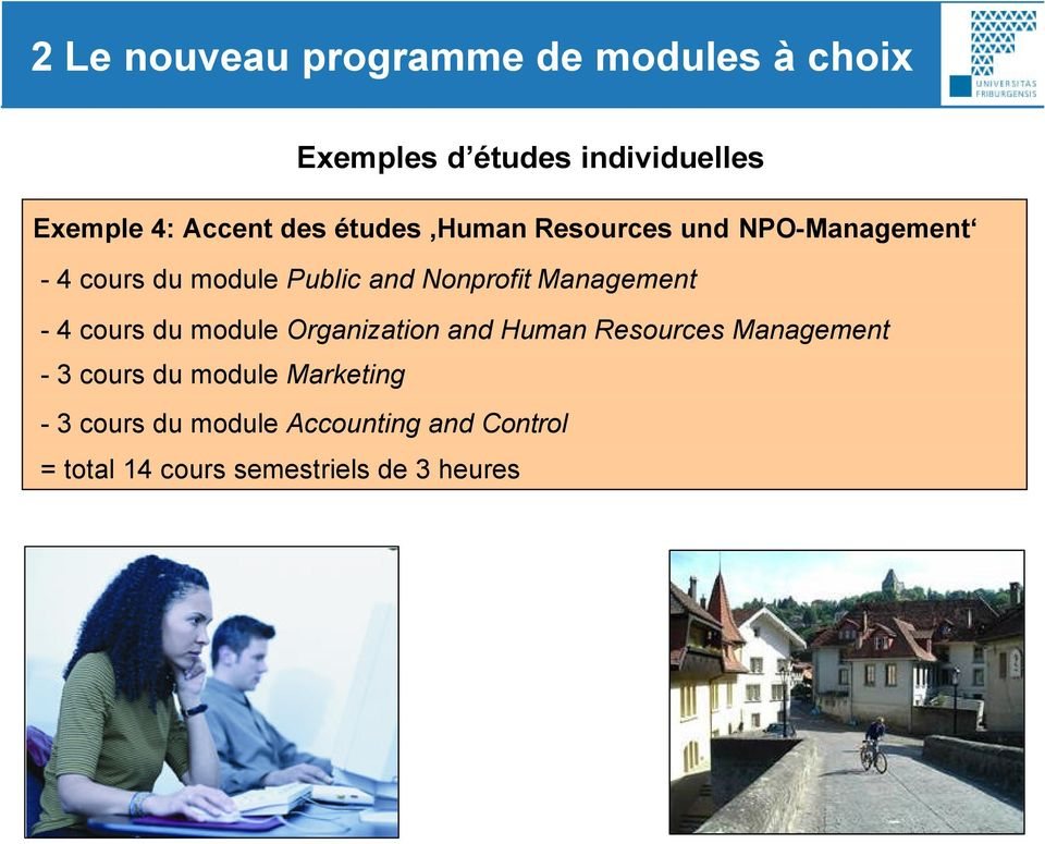 Management - 4 cours du module Organization and Human Resources Management - 3 cours du