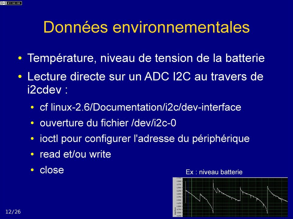 6/documentation/i2c/dev-interface ouverture du fichier /dev/i2c-0 ioctl