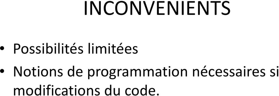 Notions de programmation