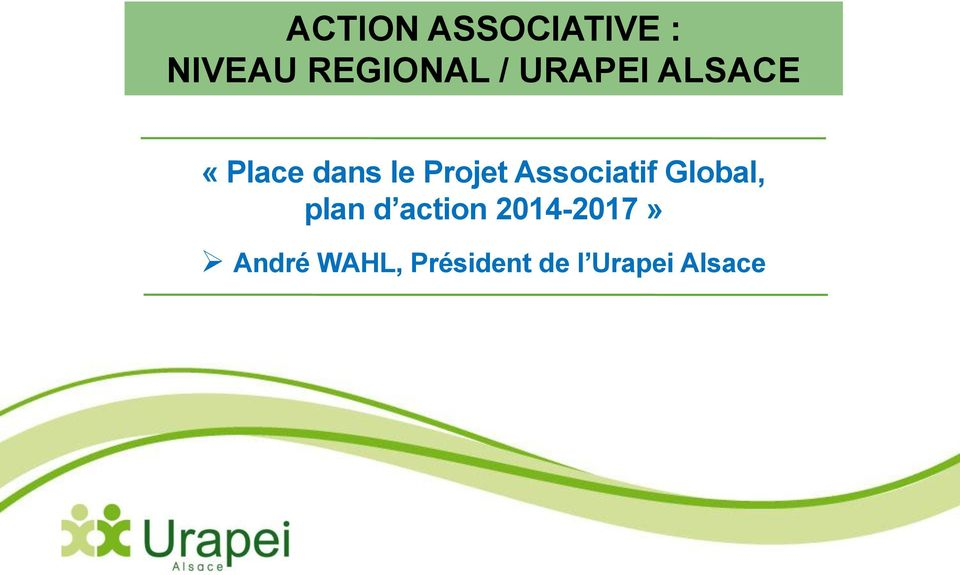 Associatif Global, plan d action
