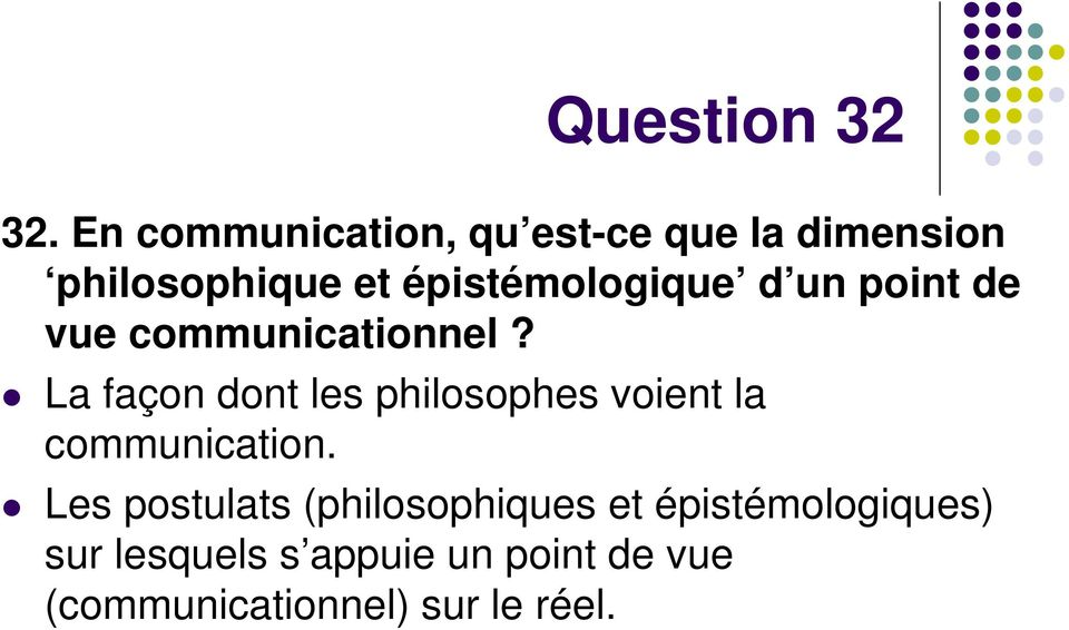 épistémologique d un point de vue communicationnel?
