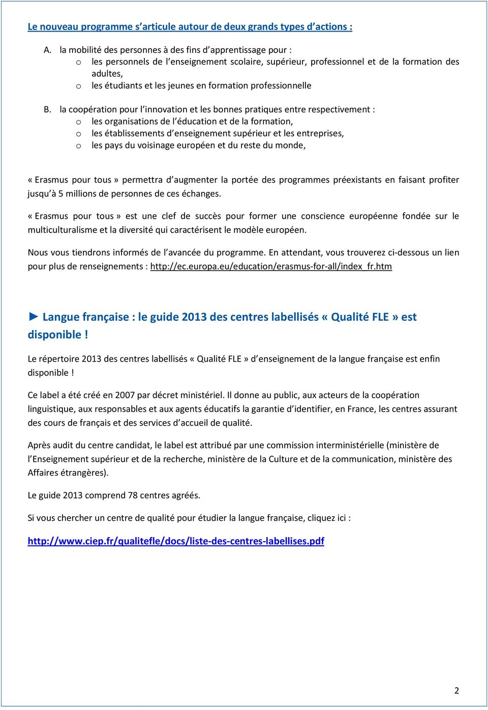 formation professionnelle B.