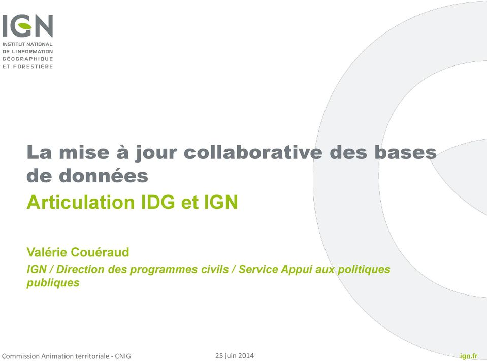 Couéraud IGN / Direction des programmes