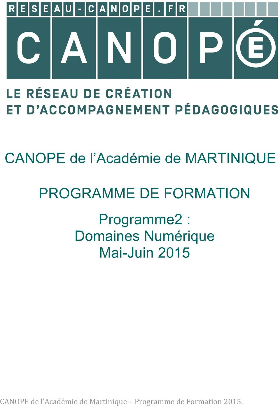 FORMATION Programme2 :