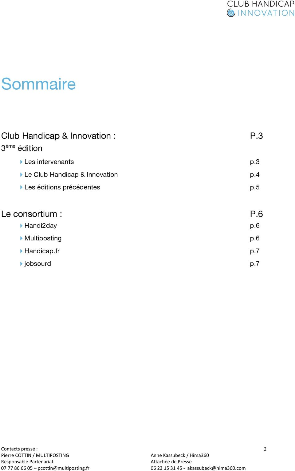 3 Le Club Handicap & Innovation p.