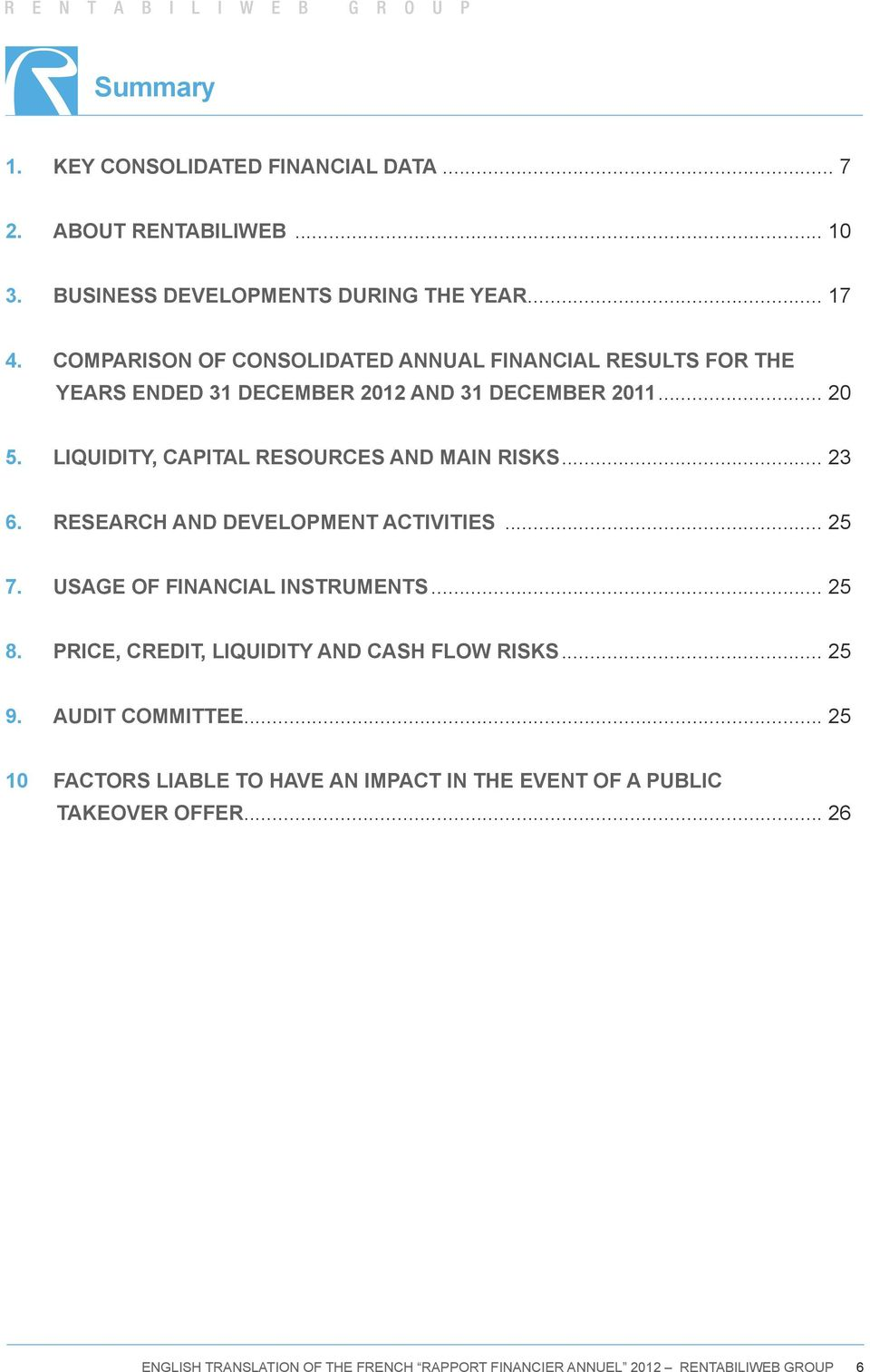 LIQUIDITY, CAPITAL RESOURCES AND MAIN RISKS... 3 6. RESEARCH AND DEVELOPMENT ACTIVITIES... 5 7. USAGE OF FINANCIAL INSTRUMENTS... 5 8.