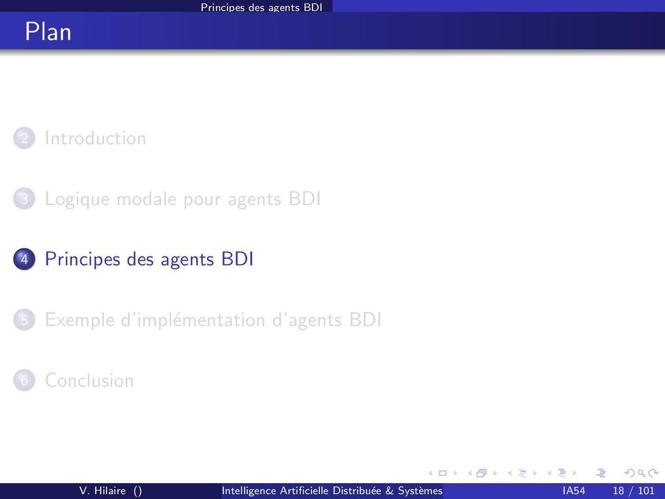 implémentation d agents BDI 6 Conclusion V.