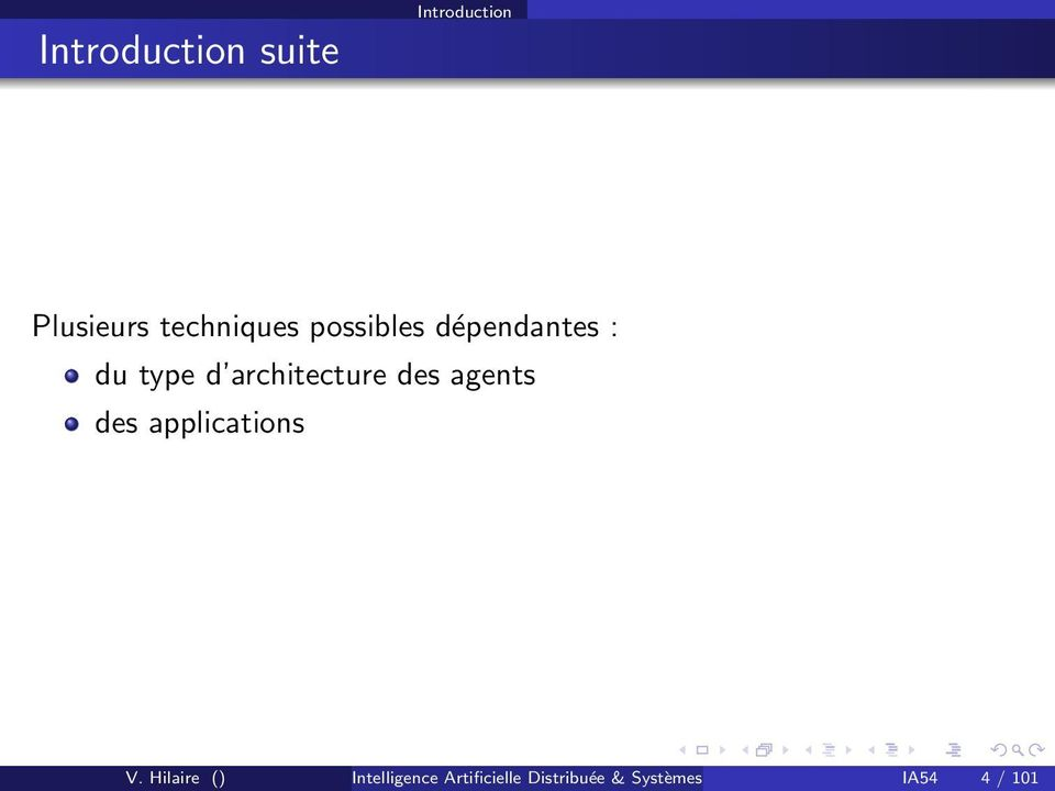 agents des applications V.