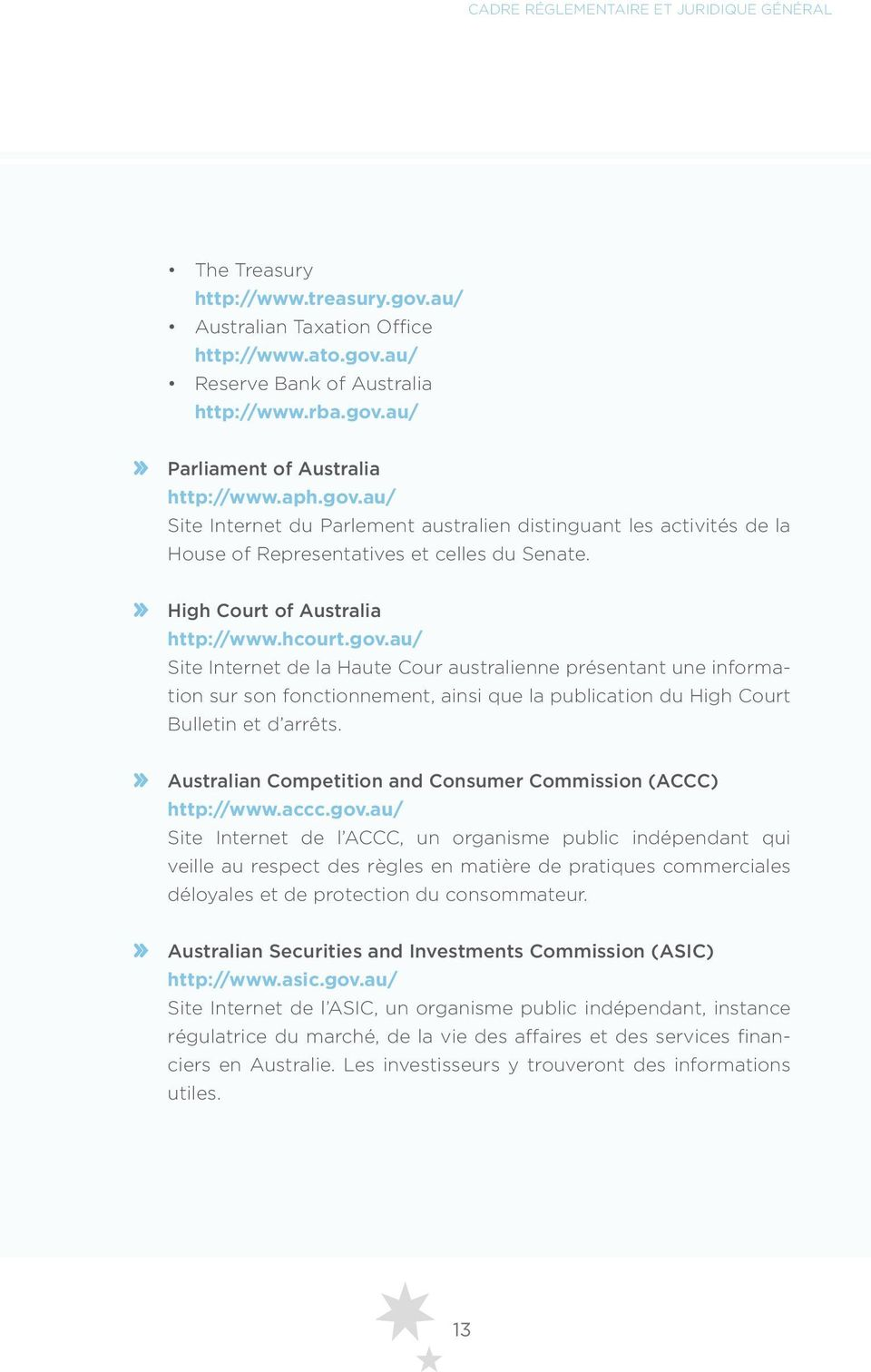 Australian Competition and Consumer Commission (ACCC) http://www.accc.gov.