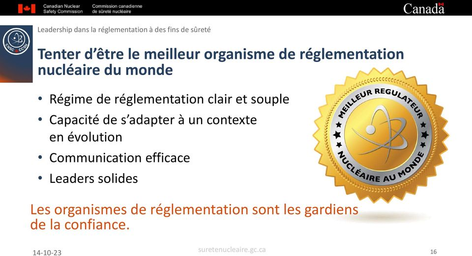 adapter à un contexte en évolution Communication efficace Leaders