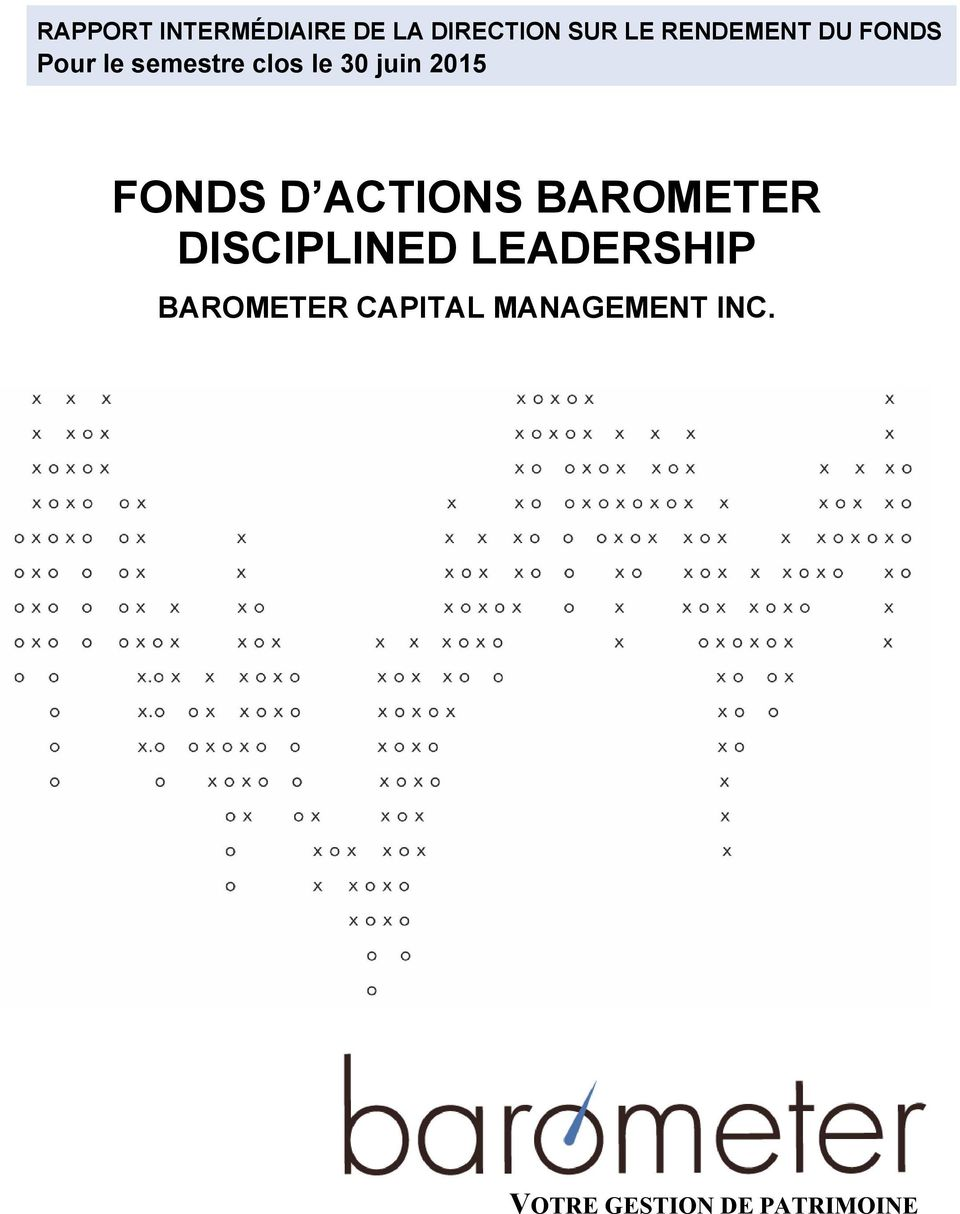 2015 FONDS D ACTIONS BAROMETER DISCIPLINED