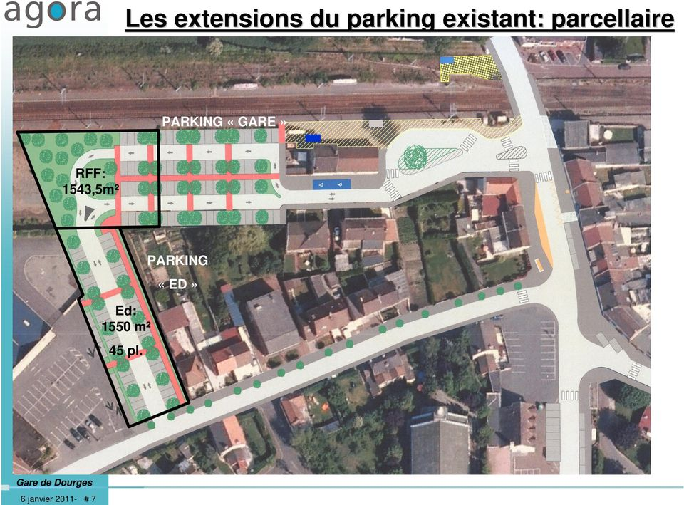 «GARE» RFF: 1543,5m² PARKING «ED»
