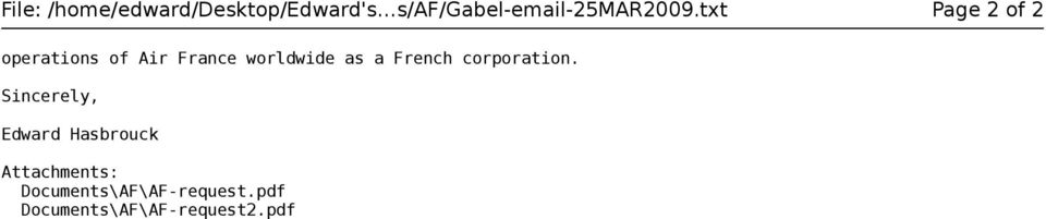 txt Page 2 of 2 operations of Air France worldwide as a