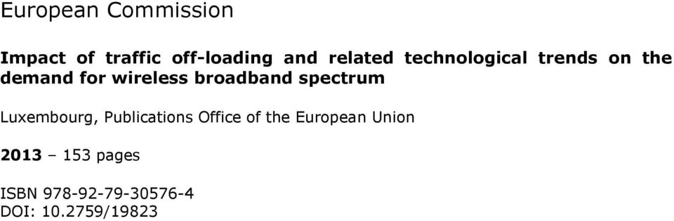broadband spectrum Luxembourg, Publications Office of the