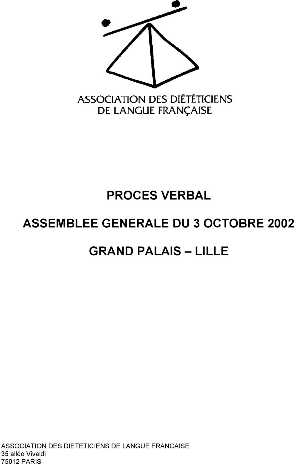 ASSOCIATION DES DIETETICIENS DE