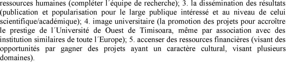 scientifique/académique); 4.