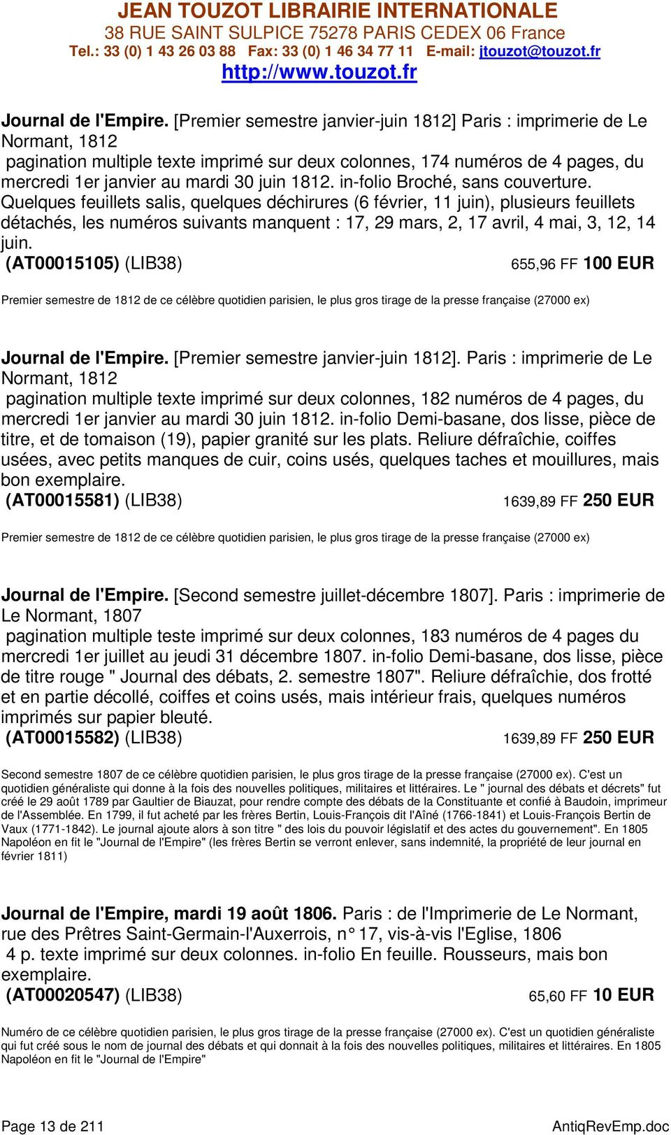 in-folio Broché, sans couverture.