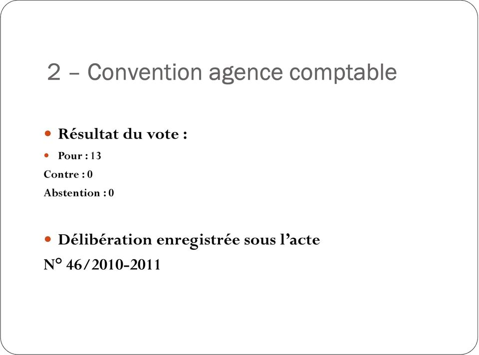 Contre : 0 Abstention : 0