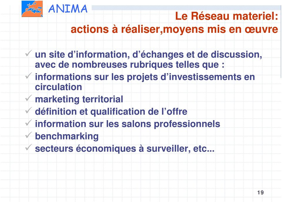 investissements en circulation marketing territorial définition et qualification de l offre
