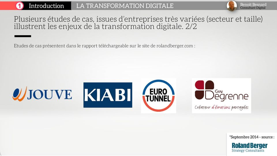la transformation digitale.