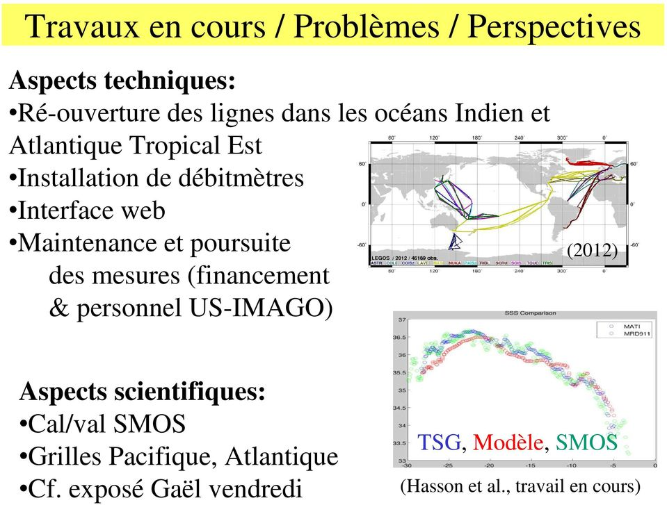 Maintenance et poursuite des mesures (financement & personnel US-IMAGO) (20) Aspects scientifiques: Cal/val