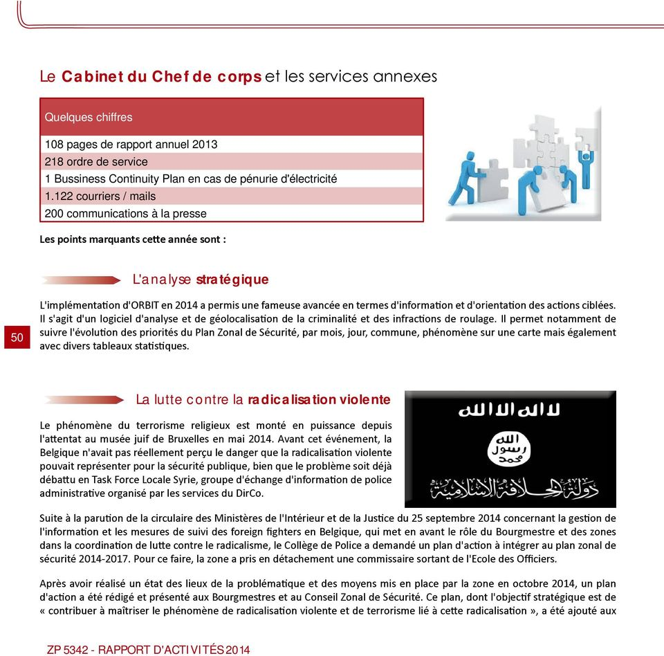 122 courriers / mails 200 communications à la presse L'analyse stratégique