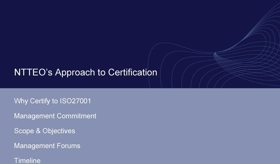 ISO27001 Management Commitment